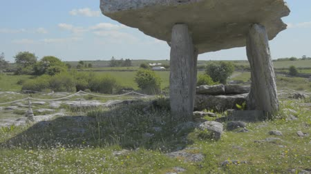 pré histórico : 5000 years old Polnabrone Dolmen in Burren, Co. Clare - Ireland