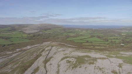 farol : Aerial birds eye view of the burren national park.