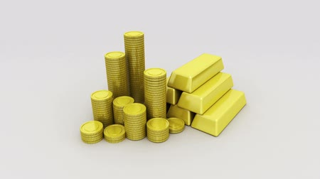 good luck coins : Pile up Golden coins and bar, expressed growth profits 3 (included Alpha)