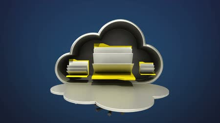 güvenli : Access Cloud file security animation (included Alpha) Opened cloud safe. Stok Video