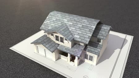 жилье : Architectural drawing changed three-dimensional house.