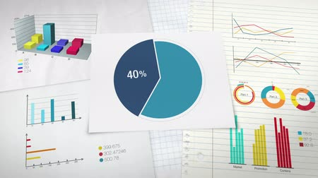 investimento : Circle diagram for presentation, Pie chart indicated 40 percent, and various graphic diagram.