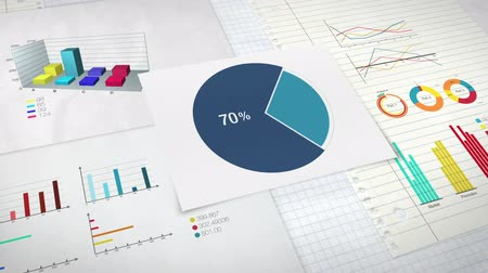 prezentaci : Circle diagram for presentation, Pie chart indicated 70 percent, and various graphic diagram. version 2