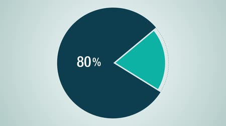 prezentaci : Circle diagram for presentation, Pie chart displayed 80percent