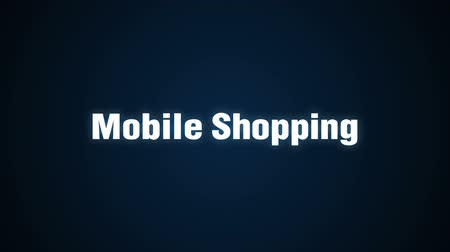 Online, Credit, Purchasing, Mobile payment, Text animation Mobile Shopping