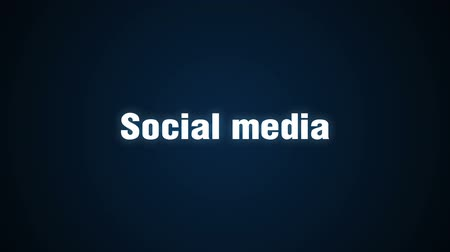 Blog, Follow, Communication, Message, Online, Text animation Social media