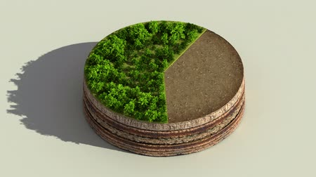 Indicate about 60 percents circle diagram, chart. Eco Infographic elements with trees, leaves, earth and grass. Dostupné videozáznamy