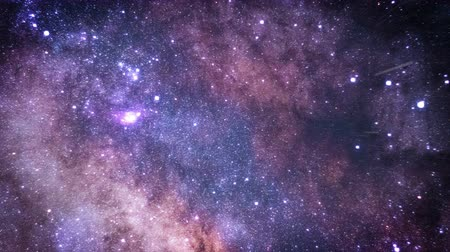 astro : Flying through star fields in space. purple