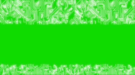 alerta : Green Abstract Backgrounds Of Infographics 4K. Technology. Green screen alpha channel Vídeos