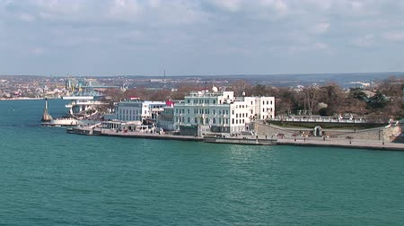 valiant : Seafront of the city of Sevastopol. Stock Footage
