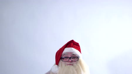 шляпа : Santa Claus on a white background positive emotions