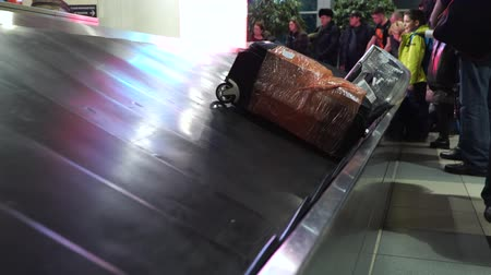 reclaim : luggage belt at the airport