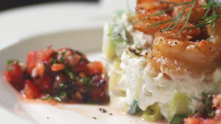 dish : the Greek cuisine. the restaurant salad closeup