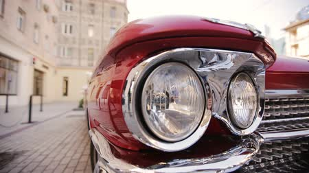 auto show : Handicap red Cadillac Stock Footage