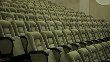 público : Empty rows of theater, concert hall or movie seats