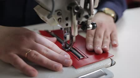 przeszczep : leather sewing with a sewing machine. Sewing machine
