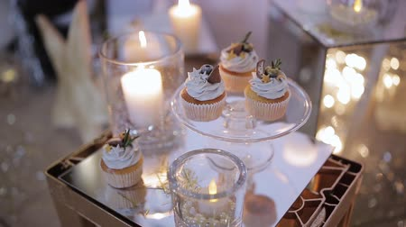 elegant dessert : A tray of cupcakes and decoration music party