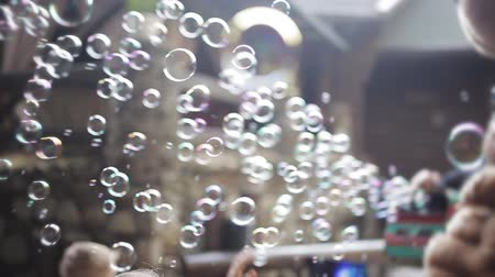 пойманный : A lot of soap bubbles for childrens birthday party.