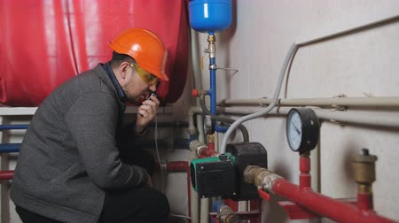heating system : Check equipment in boiler engineer and coordination with the authorities of the technical testimony on the radio.