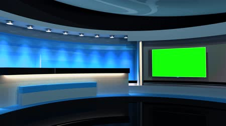 news tv : Studio The perfect backdrop for any green screen or chroma key video production. Loop