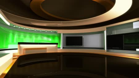 news tv : News Studio. Tv studio set. The perfect backdrop for any green screen or chroma key video production. Loop. 3D. 3D rendering. After loop video have mate video for screen.
