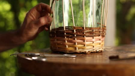 bamboo basket : Basket weaving