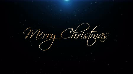 calligraphic : Merry Christmas New Year Greeting Beautiful Text Animation Stock Footage