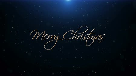 caligráfico : Merry Christmas New Year Greeting Beautiful Text Animation Vídeos