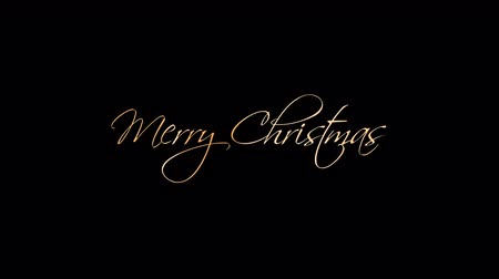 caligráfico : Merry Christmas New Year Greeting Beautiful Text Animation With Alpha Channel