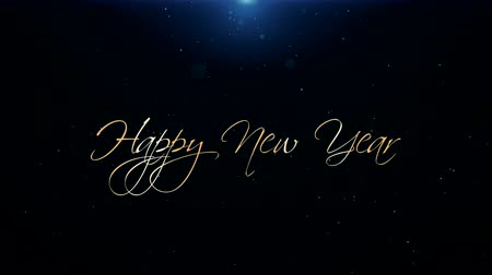 calligraphic : Happy New Year Greeting Beautiful Text Animation