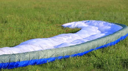 being prepared : SYZRAN, RUSSIA, JULY 27, 2015: a paraglider is being prepared for the flight