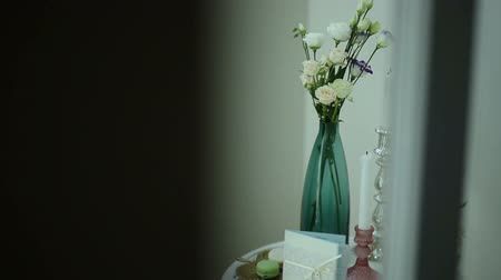zaproszenie : Vintage decorative composition flowers and candles