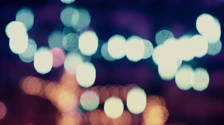 natureza : Colorful, blurred, bokeh lights background in cold tones. Abstract sparkles. Vídeos