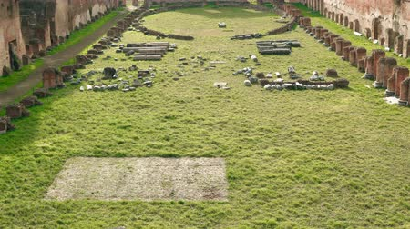 palatine : Rome, Italy represents the Palatine Hill, one of the most ancient parts of city - stadium and severan complex.