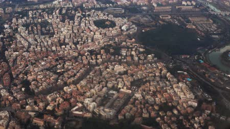 vatikan : Aerial view of the beautiful panorama of Rome, Italy. Filming from the plane, famous capital from the air.