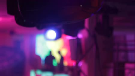 festoon : light in a nightclub Stock Footage