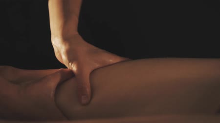 Beautiful young woman gets a relaxing massage