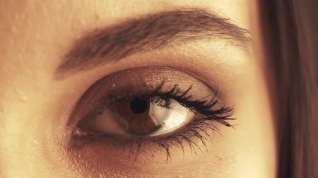 Womans eye close up
