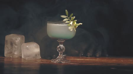 romênia : Barman make a cocktail at a bar Stock Footage