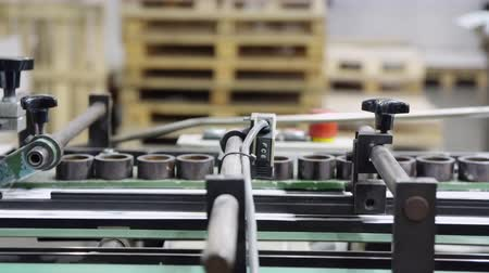 impressão digital : equipment print factory printing press newspaper or brochure Stock Footage