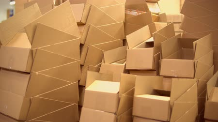 отправка : view of the boxes in the warehouse or logistics office