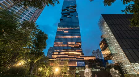 király : Front view of King power Mahanakhon tower, the tallest building in Thailand. Bangkok, Thailand - July 2018