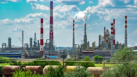 elektrownia : Refineries in the day with blue skies