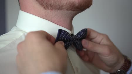 Man dressed in a bow tie Stock Footage