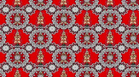 дамаст : Vintage pattern composition on red background