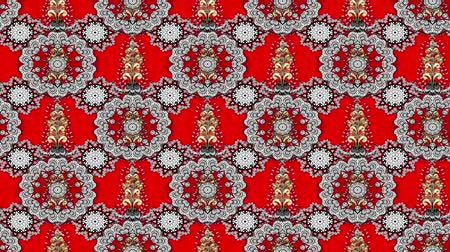 дамаст : White moving pattern on red background