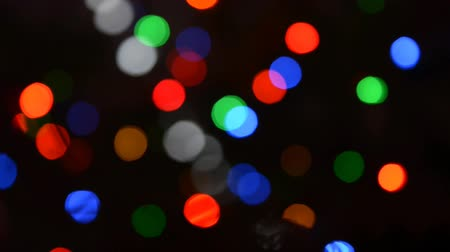 szépia : blurry lights on a Christmas tree