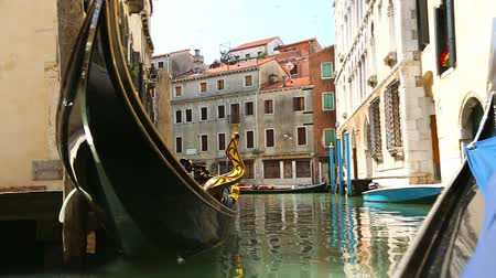 paisagem urbana : View from gondola during the ride through the canals of Venice, Italy