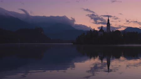 marys : Sunset at Lake Bled, Slovenia with St. Marys Church of the Assumption on the island