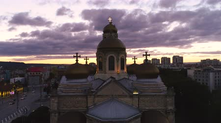 bułgaria : Vana, Bulgaria and The Cathedral of Assumption during beautiful sunset Wideo